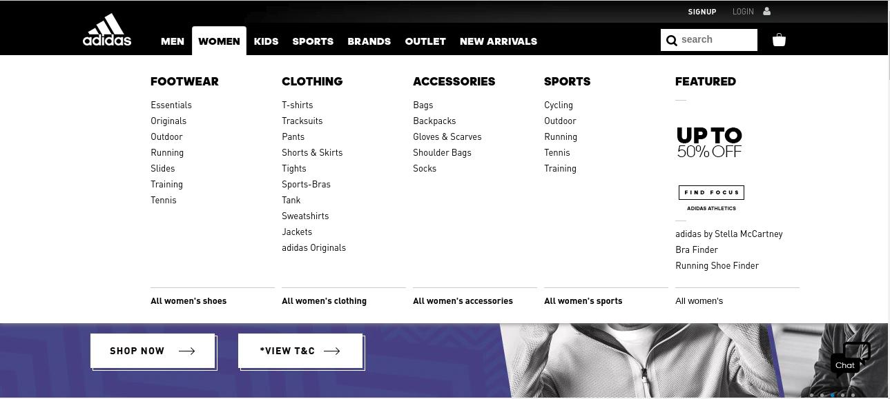 menu navigation web design services