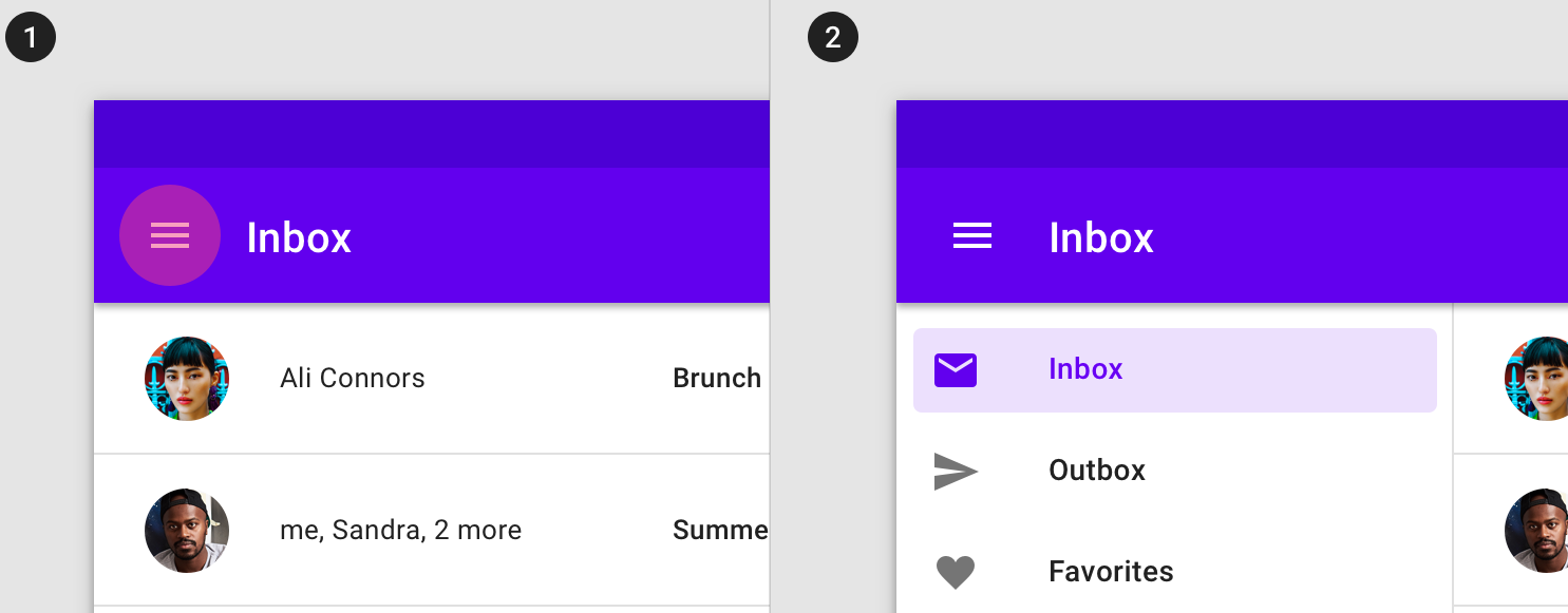 hamburger menu ux design services